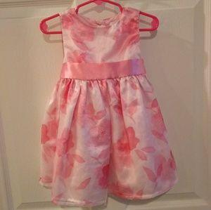 Pink & white floral dress